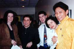 Nawang with Paul Simon and Natalie Merchant