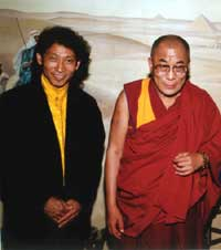 Nawang with the Dalai Lama