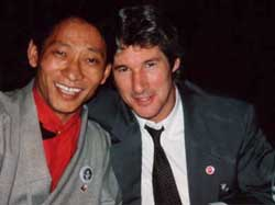 Nawang with his good friend Richard Gere